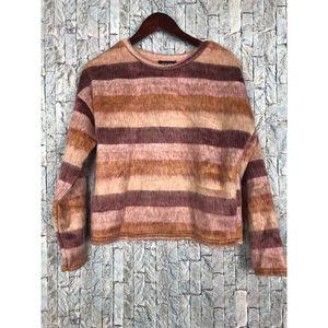New Look fuzzy stripe sweater